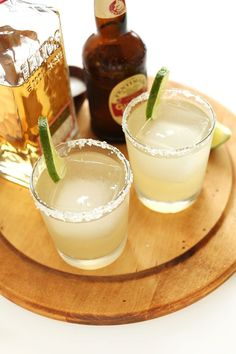 Simple, 5-ingredient ginger beer margaritas. Simply the best margaritas you'll ever have!
