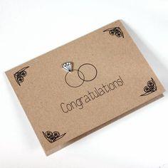 Personalised Diamond Ring Engagement Or Wedding Card