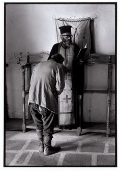 "Greece. Karpathos. Olympos. 1964. Easter confession. ""A Greek Portfolio"" p.32 © Costa Manos/Magnum Photos"