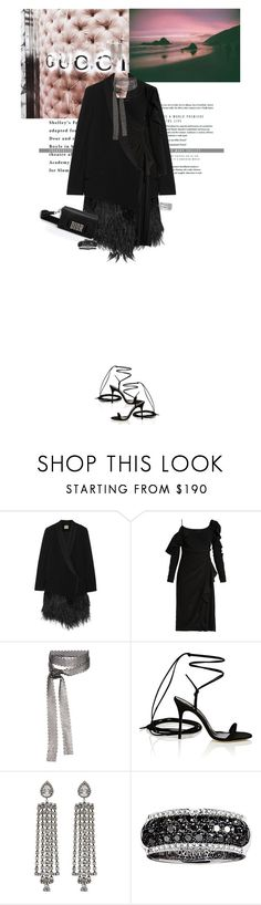 """Untitled #1880"" by the2ndchild ❤ liked on Polyvore featuring Haute Hippie, Versace, Fallon, Manolo Blahnik, DANNIJO, Effy Jewelry and Sterling Forever"