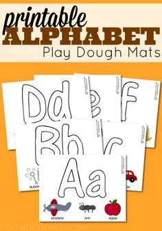 Letters, fine motor skills, colors, and more! Work on them all with these fun printable alphabet play dough mats! Perfect for your home preschool!