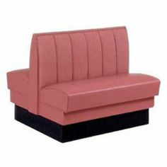 Central Restaurant Products Silver Dollar Vinyl Double Booth Channel Back  SKU: 516-014 Find all of your Restaurant Booths and Booth Seating at Central. We offer several different styles and seating arrangements. Choose from the Wood Restaurant Booths in Single or Double, Upholstered Restaurant Booths in Single or Double, or our Laminate Restaurant Booths.
