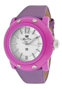 Glam Rock Women's Miss Miami Beach Casual Watch by Spring Wrist Candy on Glam Rock, Rock Watch, Beach Casual, Casual Watches, Miami Beach, Designer Collection, Outfit, Unique, Lilac