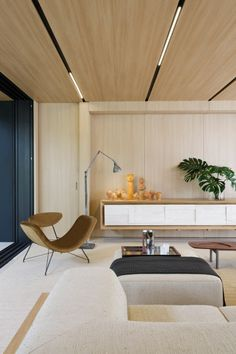 studio arthur casas has collaborated with sysHaus to develop the sysHaus house, a 200 sqm prefabricated residence in sao paulo. Rugs In Living Room, Interior Design, House Interior, Couches Living Room, Prefabricated Houses, Home, Living Room Sets, Home Decor, Room