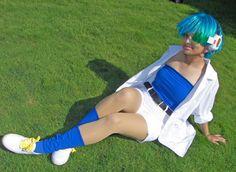 Anime: Dragon Ball. Character: Bulma. Version: Lab (Androids Ark). Cosplayer: Alex Warner 'aka' Glay. From: Waterloo, Toronto, Canada. Event: AnimeNext 2007. Photo: Technoranma.