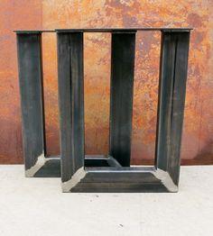 Thick Industrial U Shape Metal Table legs 4x2 by SteelImpression