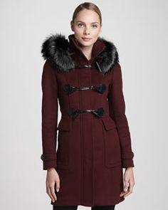B2AJZ Burberry London - Hood Wool Duffle Coat
