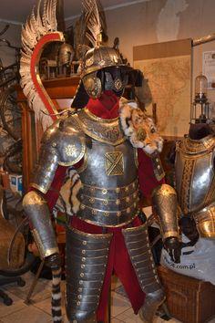 Zbroja husarska Robert Stefanowski Medieval Armor, Medieval Fantasy, Battle Of Vienna, Military Costumes, Female Armor, Renaissance, Military Insignia, Arm Armor, Fantasy Armor