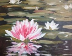 Large Water Lily *Paint Nite Nashville* Buy tix at paintnite.com