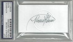 Ronald Wayne. He co-founded Apple Computer with Steve Wozniak and Steve Jobs. Authentic autograph with COA.
