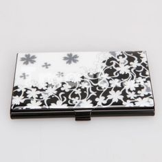 Tracery Stripe Design Electrochemical Iron Metal Business Credit ID Card Case Holder
