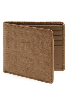 Burberry+London+Embossed+Check+Billfold+Wallet+available+at+#Nordstrom