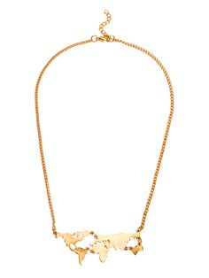 Shop Gold Personalized World Map Statement Necklace online. SheIn offers Gold Personalized World Map Statement Necklace & more to fit your fashionable needs.