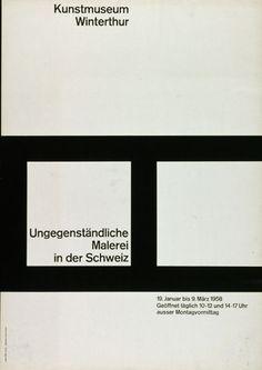 Kunstmuseum Winterthur / Poster / 1958