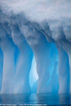 Closeup of large icebergs at Brown Bluff, Antarctic Peninsula, Antarctica