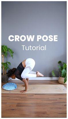 Yoga Bewegungen, Yoga Moves, Yoga Meditation, Yoga Day, Ashtanga Yoga, Vinyasa Yoga, Yoga Fitness, Yoga Crow Pose, Yoga Videos For Beginners