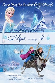 Image for Frozen Birthday Invitations Free Templates   one   Pinterest