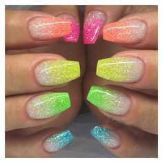 3g 6 Color DIY Beauty Glitter Phosphor 3d Glow Nail Art Fluorescent... ❤ liked on Polyvore featuring beauty products, nail care and nail treatments