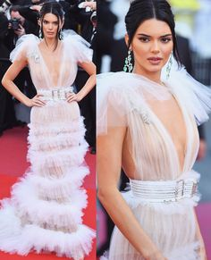 Kendall Jenner in Schiaparelli Haute Couture – 'Girls Of The Sun (Les Filles Du Soleil)' Cannes Film Festival Premiere Kendall Jenner Style, Stunning Dresses, Beautiful Asian Girls, Sensual, Ideias Fashion, Celebrity Style, Fashion Show, Fashion Dresses, Celebs