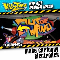 make cartoony electrodes. make this prop element from styrofoam craft supplies. Share your tips tricks & ideas: #kidsetdesign #kidmin  - INSTAGRAM VIDEO - (click to play) -