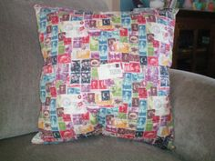 1 Novelty Pillow  Postage Stamp Theme  18 x by NoveltyPillows4All, $22.95