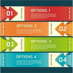 Color Label Banner Design Vector [EPS]