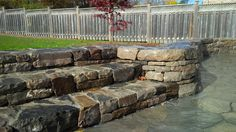 Drystone steps and retaining wall Aesthetic Look, Dry Stone, Retaining Walls, Concrete Blocks, Landscape Design, Construction, Nature, Cinder Blocks, Building