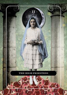 High Priestess tarot card by Jordan Clarke. If you love Tarot, visit me at www.WhiteRabbitTarot.com