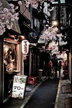 #japan #alley #blossom Untitled | Flickr - Photo Sharing!