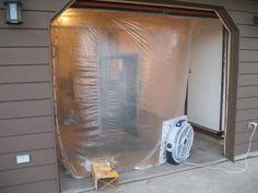 Cabine de Pintura com tubos de PVC / Weekend Paint Booth