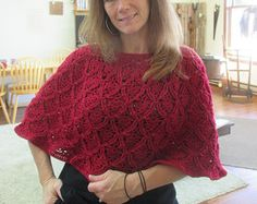 Made to order Hand Crochet Caplet/Poncho w/Dimentional Lace Pattern