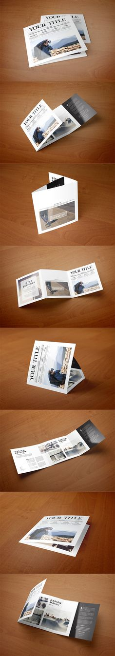 Square Minimal Style Trifold. Download here: http://graphicriver.net/item/square-minimal-style-trifold/9132686?ref=abradesign #brochure #trifold