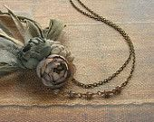 petite bouquet necklace - ash rose - hand dyed