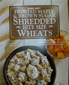 Frosted Maple and Brown Sugar Shredded Wheat - 0mg sodium - Trader Joe's