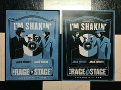"Jack White ""I'm Shakin"" COMPLETE Poster Set (third man lp 7 stripes vault print)"