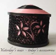 Quilling, paper jewelry box by Yesterday's news - today's accessories