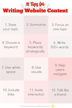 12 tips for #writing website content with Word Wise at Nonprofit Copywriter #DigitalWriting #OnlineWriting #WritingTips