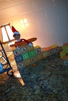 elf on a shelf I havent got into the elf on the shelf much....but come on this one is GOOD!