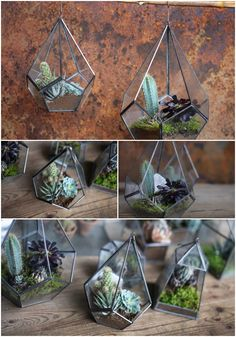 The Manduri hanging planters are the perfect way to bring nature indoors.   Their simple but elegant design provides a stylish backdrop for succulents and other indoor plants.   They make a beautiful lantern or terrarium.   Choose from two sizes.