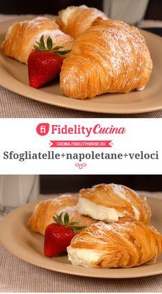 Elegant Desserts, Italian Desserts, Italian Recipes, Pastry Recipes, Cake Recipes, Dessert Recipes, Sfogliatelle Recipe, Pavlova, Italian Pastries