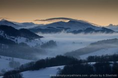 Winter morning in Bieszczady Mountains. #Poland www.simplycarpathians.com