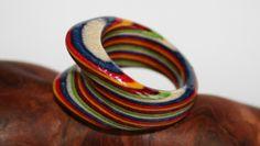 Ring in reiner Handarbeit aus Holz gefertigt! Rings For Men, Handmade Jewelry, Jewellery, Bracelets, Leather, Handarbeit, Jewerly, Men Rings, Jewels