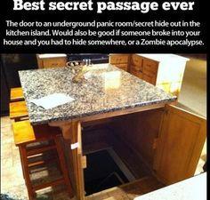 Secret hiding place! This is the most revolutionary idea ever!  Secret passage under the table..