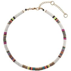 Miss Selfridge Multi Coloured Necklace (£11) ❤ liked on Polyvore featuring jewelry, necklaces, gold color, multi color jewelry, gold tone jewelry, miss selfridge, multicolor necklace and metal necklace