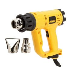 The Dewalt Heat Gun comes with variable temperature control, Built-in hang ring and Built-in innovative kickstand support. This lightweight and compact design heat gun ships with a Cord Protector to keep the cord from tearing away from the housing. Home Tools, Diy Tools, Dewalt Power Tools, Cord Protector, Carpentry Tools, Plumbing Tools, Woodworking Tools, Brand Power, Soldering Tools