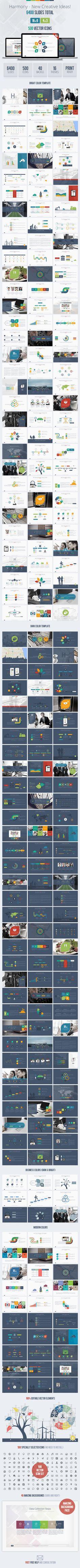 Harmony Google Slides Presentation Template #design #slides Download: http://graphicriver.net/item/harmony-google-slides-presentation-template/12893454?ref=ksioks