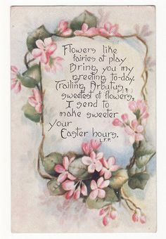 Easter Greeting VIntage Postcard by Carol Anne's Boutique, via Flickr