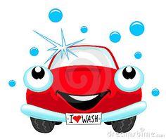 the cartoon red car wash