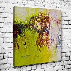 Abstract Oil Green Painting Tablo #soyut_kanvas_tablo