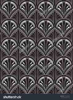 Art Deco Repeat Wallpaper